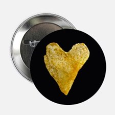 "Heart Shaped Potato Chip 2.25"" Button (10 pack)"