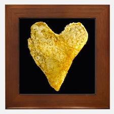 Heart Shaped Potato Chip Framed Tile