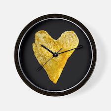Heart Shaped Potato Chip Wall Clock