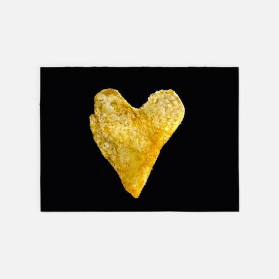 Heart Shaped Potato Chip 5'x7'Area Rug