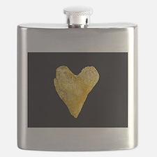 Heart Shaped Potato Chip Flask