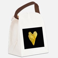 Heart Shaped Potato Chip Canvas Lunch Bag