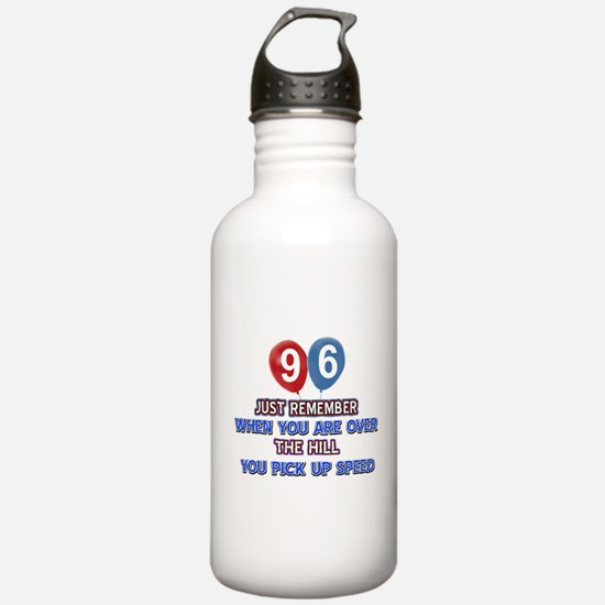 96 year old designs Water Bottle