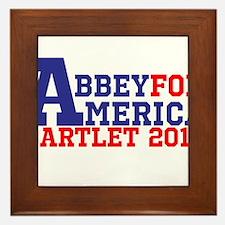Abbey For America Bartlet 2016 Framed Tile