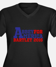 Abbey For America Bartlet 2016 Plus Size T-Shirt