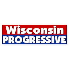 Wisconsin Progressive Bumper Bumper Sticker