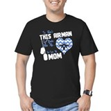 Air force mom Fitted Dark T-Shirts
