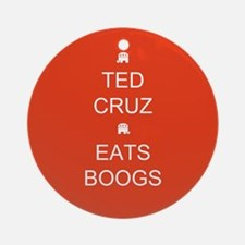 Cruz Eats Boogs Round Ornament