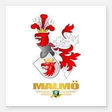 """Malmo Square Car Magnet 3"""" x 3"""""""