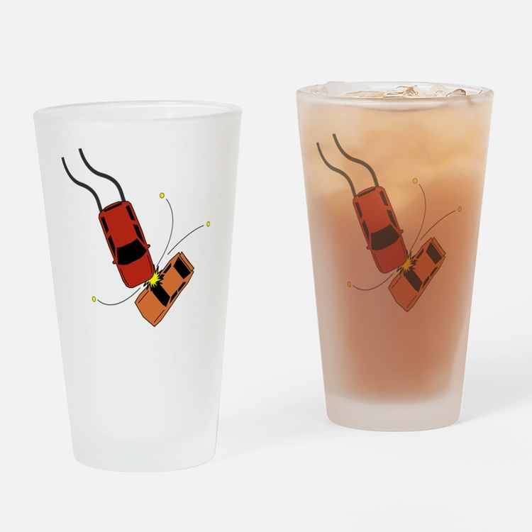 Cute Accident Drinking Glass