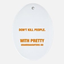 Cute People Oval Ornament