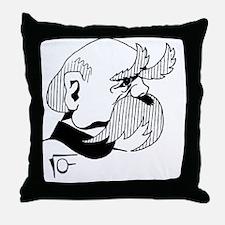 Cute Bismarck Throw Pillow