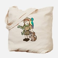 Cute Zoo keeper Tote Bag