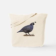 Cute California quail Tote Bag
