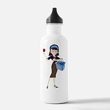 Cute Basket lady Water Bottle