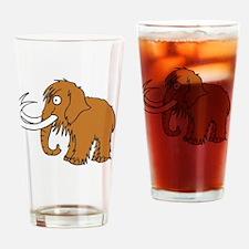 Cute Mammoth Drinking Glass