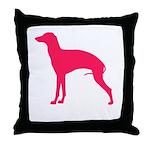 Italian Greyhound Pink Throw Pillow