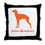 Italian Greyhound Tan Throw Pillow