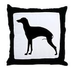 Italian Greyhound Black Throw Pillow