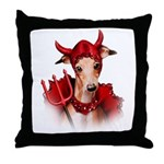 Italian Greyhound Devil Dog Throw Pillow