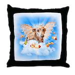 Italian Greyhound Angel Dog Throw Pillow