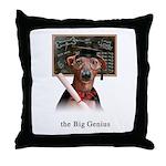 Italian Greyhound Dog Big Genius Throw Pillow