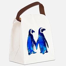 Cute Penguins Canvas Lunch Bag