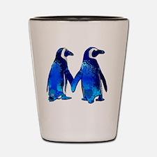 Cute Penguins Shot Glass