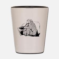 Cute Macaque Shot Glass