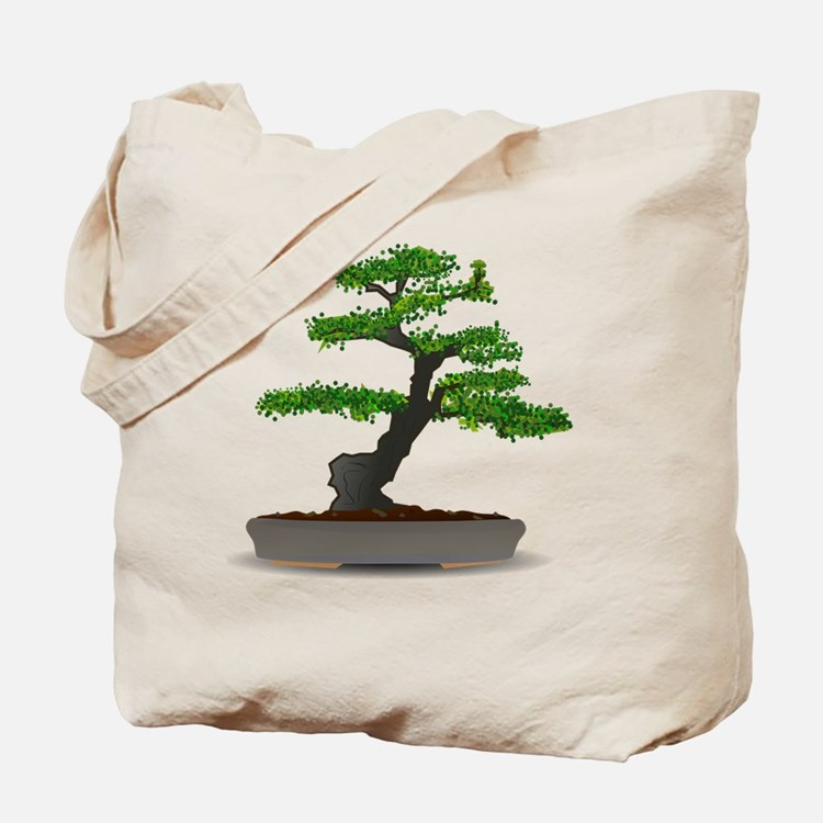 Cute Bonsai trees Tote Bag
