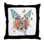 Italian Greyhound Dog Butterfly Throw Pillow