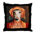 Italian Greyhound Tudor Dog Throw Pillow