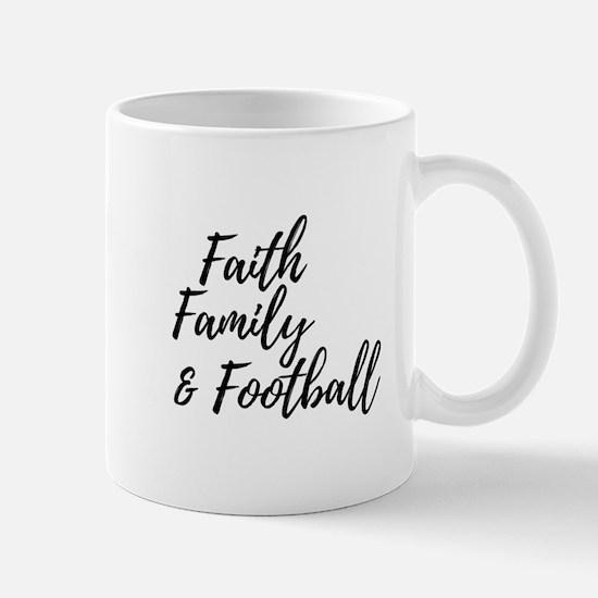 Faith Family & Football Mugs