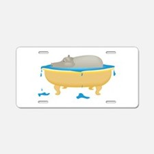 Cute Hippos Aluminum License Plate