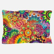 Funky Retro Pattern Abstract Pillow Case