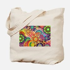 Funky Retro Pattern Abstract Tote Bag