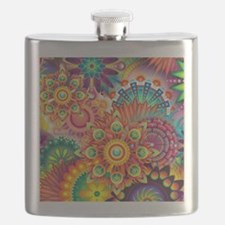 Funky Retro Pattern Abstract Flask