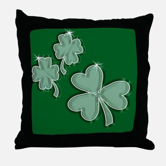Cool 4 leaf clover Throw Pillow