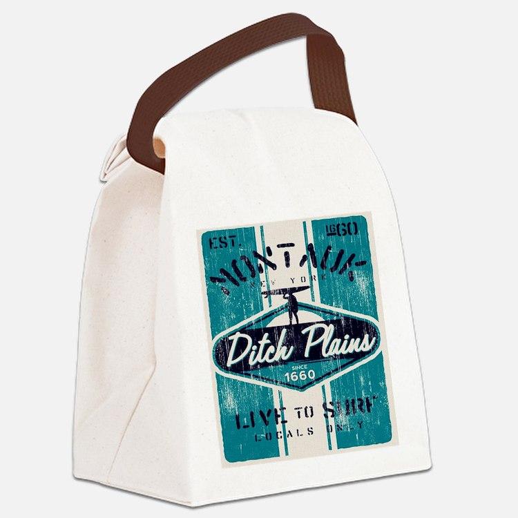 Cute Surf long island Canvas Lunch Bag