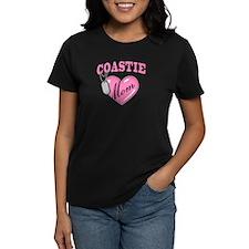Coast Guard Mom Pink Heart N Dog Tag Tee