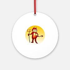 Little devil icon Round Ornament