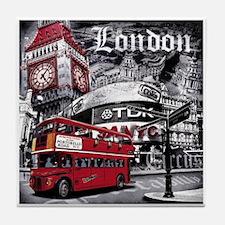Cute London souvenir Tile Coaster