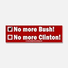 No More Bush! Check Clinton Car Magnet 10 x 3
