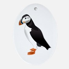 Puffin md Oval Ornament