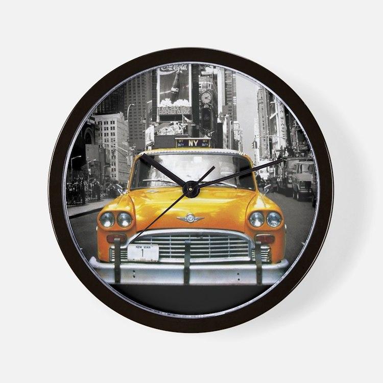 Cute Yellow cab Wall Clock