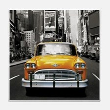 Cute Taxi Tile Coaster