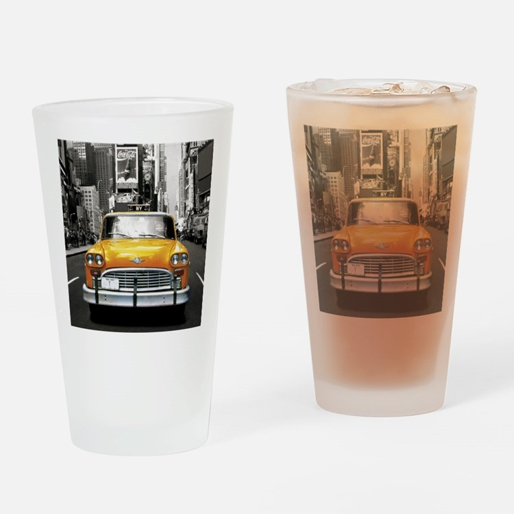 Cute Taxi cab Drinking Glass