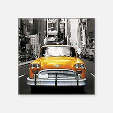 "Cute New york taxi cab Square Sticker 3"" x 3"""