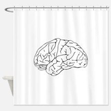 Structure of brain Shower Curtain