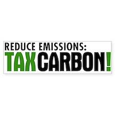 Tax Carbon Bumper Car Sticker